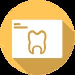 icon of yellow dental chart